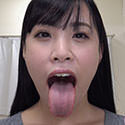 【舌フェチベロフェチ】涼城りおなのエロ長い舌と口内をじっくり観察