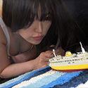【巨大娘】 水着姿の巨大娘の襲来 前編【椿りか】